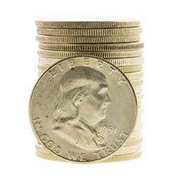 Roll of (20) Brilliant Uncirculated 1951-S Franklin Half Dollar Coins