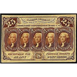 July 17, 1862 First Issue Twenty-Five Cent Fractional Currency Note