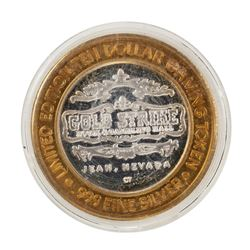 .999 Fine Silver Gold Strike Jean, Nevada $10 Limited Edition Gaming Token
