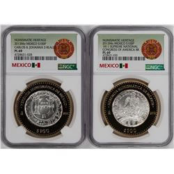 Lot of (2) 2013 Mexico Congress of America Coins NGC PL69