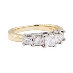 14KT Yellow And White Gold 1.01 ctw Diamond Ring