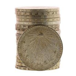 Roll of (20) Brilliant Uncirculated 1944 Mexico Un Peso Silver Coins
