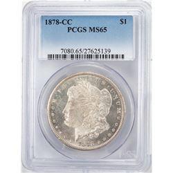 1878-CC $1 Morgan Silver Dollar Coin NGC MS65