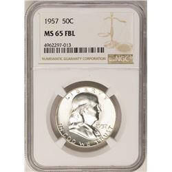 1957 Franklin Half Dollar Coin NGC MS65FBL
