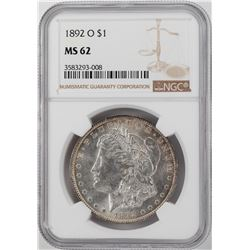 1892-O $1 Morgan Silver Dollar Coin NGC MS62
