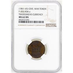 1861-65 Civil War Token Tradesmens Currency NGC MS62BN