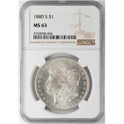 1880-S $1 Morgan Silver Dollar Coin NGC MS63