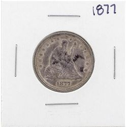 1877 Seated Liberty Quarter Coin