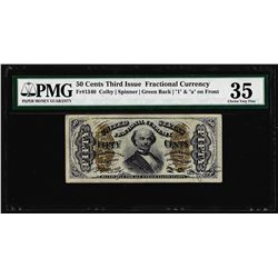 March 3, 1863 Fifty Cent Third Issue Fractional Currency Note PMG Choice Very Fine 35