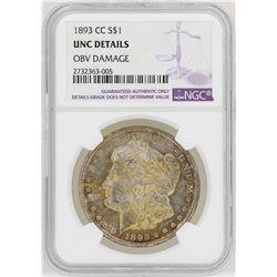 1893-CC $1 Morgan Silver Dollar Coin NGC UNC Details