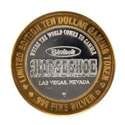 .999 Fine Silver Horseshoe Las Vegas, Nevada $10 Limited Edition Gaming Token