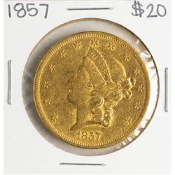 1857 $20 Liberty Head Double Eagle Gold Coin