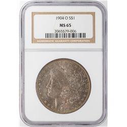 1904-O $1 Morgan Silver Dollar NGC MS65 Nice Toning