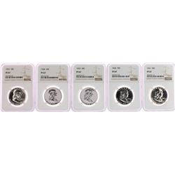 Lot of 1957-1961 Proof Franklin Half Dollar Coins NGC PF67