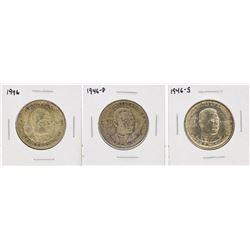 Set of (3) 1946 Booker T Washington Centennial Commemorative Half Dollar Coins