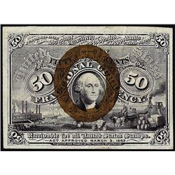 March 3, 1863 Second Issue Fifty Cent Fractional Currency Note