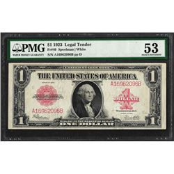 1923 $1 Legal Tender Note Fr.40 PMG About Uncirculated 53