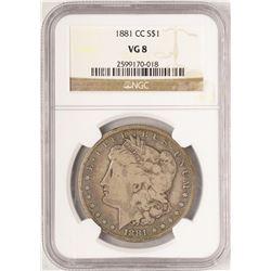 1881-CC $1 Morgan Silver Dollar Coin NGC VG8
