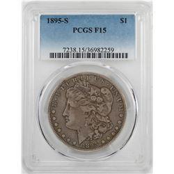 1895-S $1 Morgan Silver Dollar Coin PCGS F15
