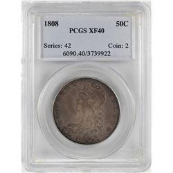 1808 Bust Half Dollar Coin PCGS XF40