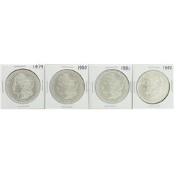 Lot of 1879-1882 $1 Morgan Silver Dollar Coins