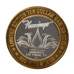 .999 Silver Flamingo Hilton Las Vegas, Nevada $10 Casino Limited Edition Gaming Token