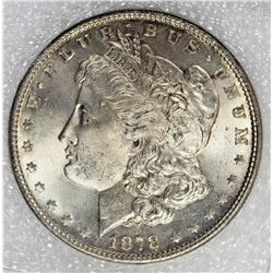 1878 7F MORGAN SILVER DOLLAR
