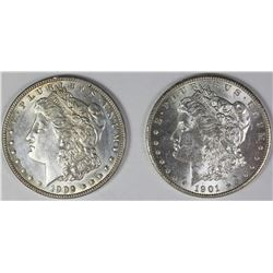 1901-O AND 1902 MORGAN SILVER DOLLARS