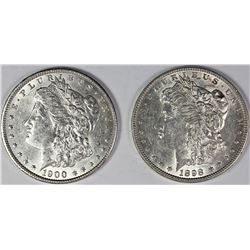 1898 AND 1900 MORGAN SILVER DOLLARS