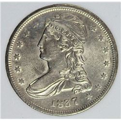 1837 REEDED EDGE BUST HALF DOLLAR