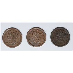 1849, 1851, AND 1854 U.S. LARGE CENTS