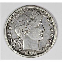 1897-S BARBER HALF DOLLAR