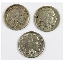 (3) BUFFALO NICKELS