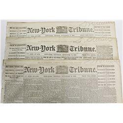 3 DIFFERENT CIVIL WAR NEWSPAPERS