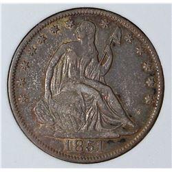 1851-O SEATED HALF DOLLAR