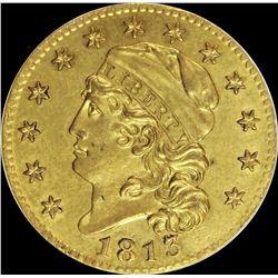 1813 $5.00 GOLD
