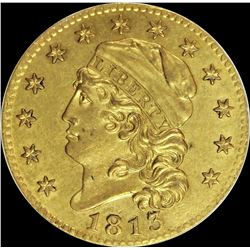 1813 $5.00 GOLD