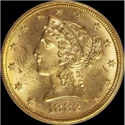 1882 $5.00 GOLD