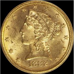 1882 $5.00 GOLD