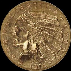 1914 $2.50 GOLD INDIAN