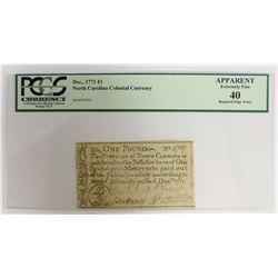 DECEMBER 1771 COLONIAL CURRENCY