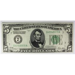 1928-A $5.00 FEDERAL RESERVE NOTE