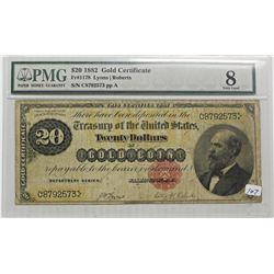 1882 $20.00 GOLD CERTIFICATE