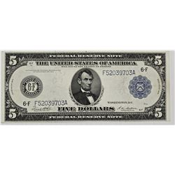 1914 $5.00 FEDERAL RESERVE NOTE