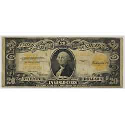 1922 $20.00 GOLD CERTIFICATE