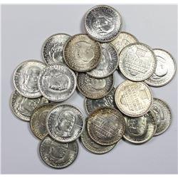 ROLL (20) OF GEM BU COMMEM HALF DOLLARS AS FOLLOWS