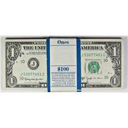 ORIGINAL PACK OF JOSEPH BARR $1.00 NOTES