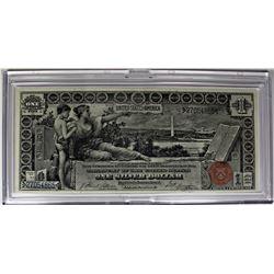 "1896 $1.00 SILVER CERTIFICATE ""EDUCATIONAL"""