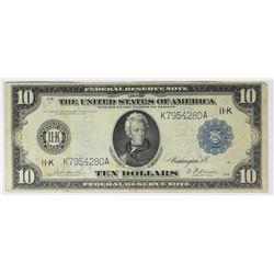 1914 $10.00 FEDERAL RESERVE NOTE DALLAS