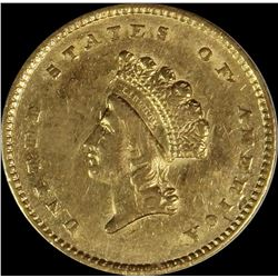1854 $1.00 GOLD